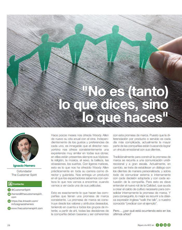 The Customer Spirit - artículo revista Calidad